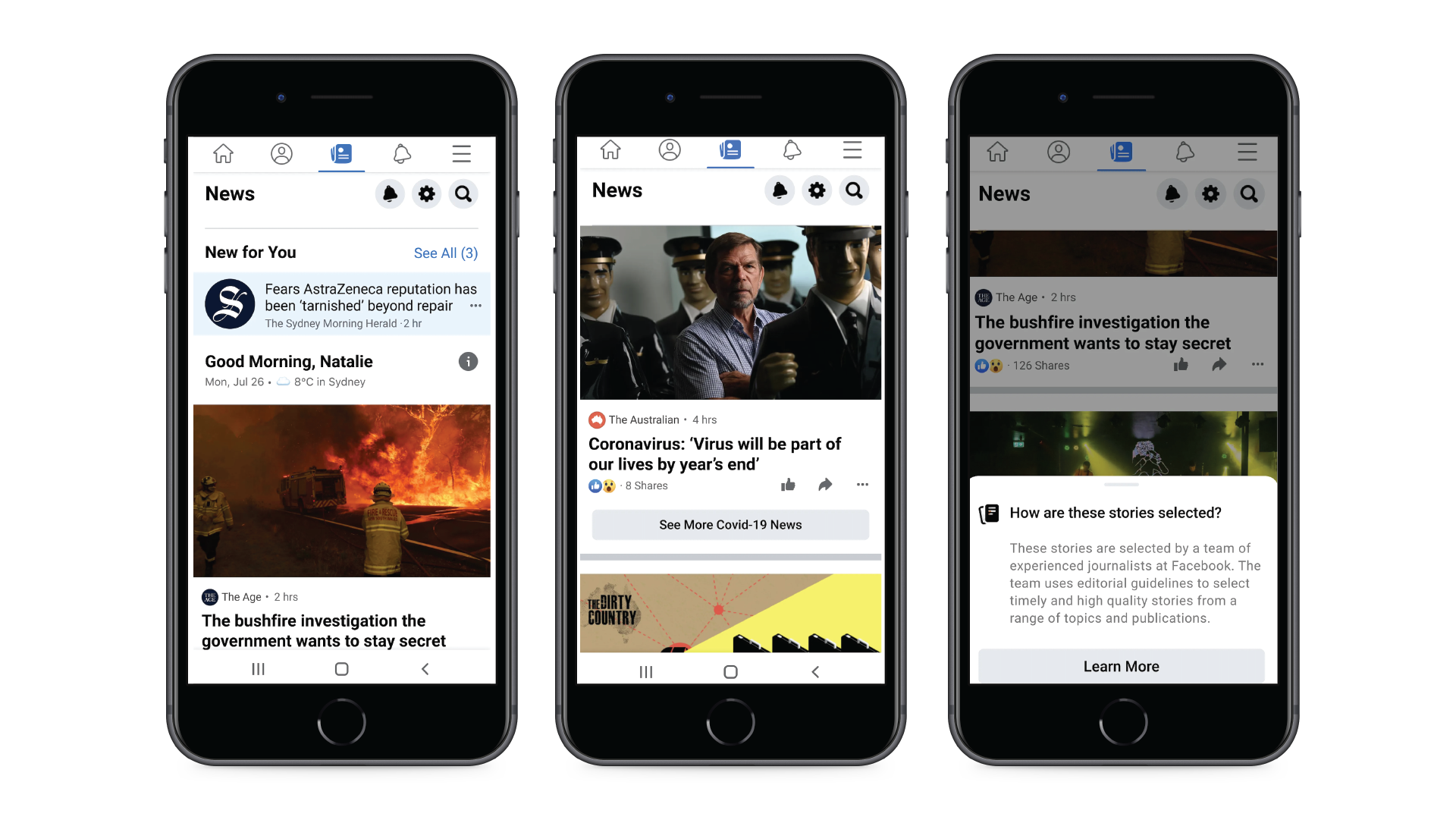 Facebook announces AU$15 million news fund and begins the phased launch of Facebook News in Australia